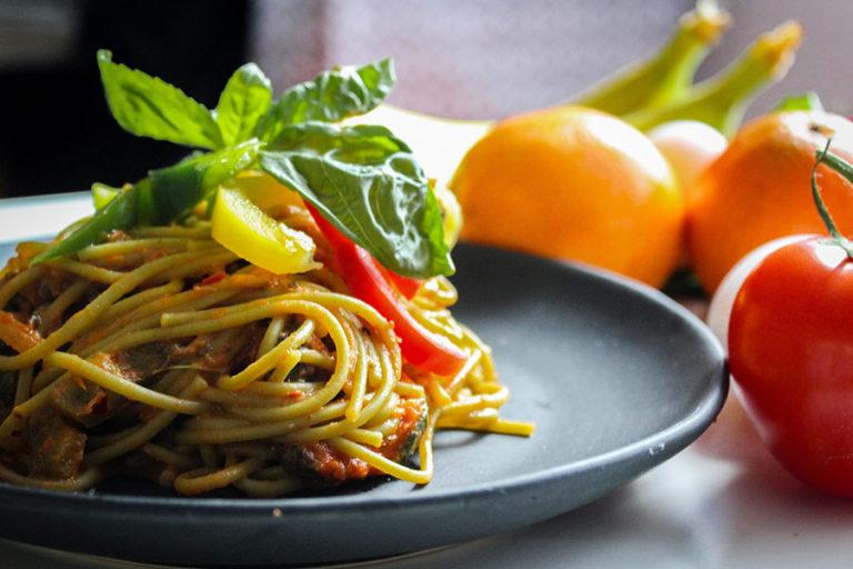 Afbeelding spaghetti op een bord